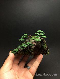 Wire mame bonsai 5 tree Rock Planting by Ken To by KenToArt.deviantart.com on @DeviantArt