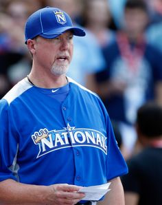 Hitting coach- Mark McGwire at the All-Star Workout Day  7-09-12