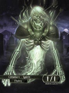 "Power to haunt. Details: Glossy Cardstock, 12 pt, 2.5"" x 3.5"" Sleevable Follow Ravens Eye Studio: Twitter Web"