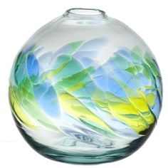 Take a look at this Oceania Round Vase by Kitras Art Glass on today! Outdoor Sculpture, Outdoor Art, Vase Centerpieces, Wedding Centerpieces, Pumpkin Ornament, Vases For Sale, Round Vase, Home Decor Vases, Basket Decoration