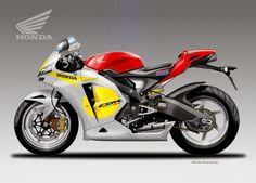Racing Cafè: Design Corner - Honda CBR Series by Oberdan Bezzi