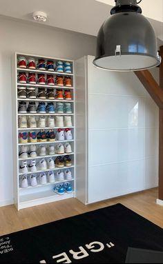 Bedroom Setup, Room Design Bedroom, Room Ideas Bedroom, Home Room Design, Bedroom Decor, House Design, Hypebeast Room, Shoe Room, Teen Room Decor