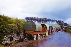 Gypsy Family's Wagons, Ireland, 1954 - On Tumblr    Pinned by www.eddiemercer.com in Pensacola, FL