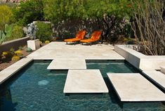 Pavers and Copings to make your pool projects phenomenal! This amazing design features floating large format tiles cut from Durango Stone Ancient Veracruz marble-limestone to create an impressively modern look. Pool Coping, Natural Stone Pavers, Natural Stones, Patio Design, Garden Design, Moderne Pools, Large Format Tile, Outdoor Spaces, Outdoor Decor