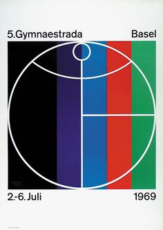 Herbert Leupin – Identity and poster for Gymnaestrada Basel, 1969