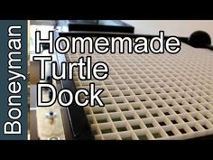 The 3 Step DIY Turtle Dock (Measure, Cut, Tie) How to make a turtle basking area in 3 simple steps. Turtle Care, Pet Turtle, Baby Turtles, Water Turtles, Turtle Basking Area, Turtle Basking Platform, Turtle Tank Setup, Turtle Dock, Turtle Supplies