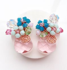 A personal favourite from my Etsy shop https://www.etsy.com/uk/listing/248935172/blue-pink-stud-earrings-pastel-jewellery