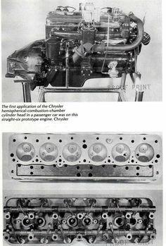 Prototype six cylinder inline Chrysler with hemispherical combustion chambers. 1st Gen Cummins, Dodge Cummins, Dodge Trucks, Hemi Engine, Diesel Engine, Chrysler Hemi, Dodge Power Wagon, American Muscle Cars, Heavy Equipment