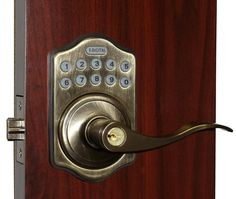View the Lockey E-985 R Electronic Keypad Lever Handleset, Remote Control Capable, 6 User Codes and LED Illumination from the E-DIGITAL Series at Handlesets.com.
