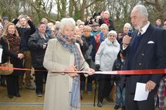 The village of Outwood in Reigate welcomed a Hollywood star on Saturday as a Dame graced the boards to open the newly refurbished community hall