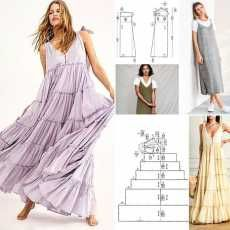 Simple Dress For Girl, Simple Dresses, Sewing Patterns Free, Clothing Patterns, Diy Clothes Design, Dress Making Patterns, Stylish Dress Designs, Dress Tutorials, Embroidery Fashion