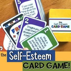 THE SELF-ESTEEM CARD GAME! Fun Solution Focused School Cou