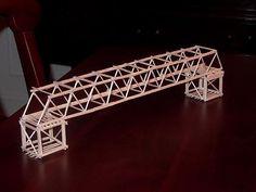How To Build A Simple Toothpick Bridge - WoodWorking Projects & Plans Bridge Model, Bridge Structure, Building Structure, Steel Structure, Team Building, Popsicle Bridge, Popsicle Stick Bridges, Popsicle Sticks, 3d Modelle