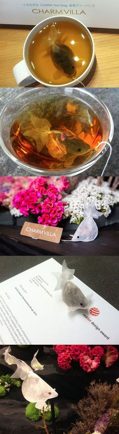 Goldfish tea bag, a really cute and creative idea. |LOL, Damn! Funny and Awesome pictures.