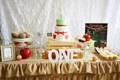 Apple of My Eye themed birthday party via Kara's Party Ideas KarasPartyIdeas.com #appleofmyeye (9)