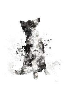 Border Collie ART PRINT Illustration Dog Home Decor by SubjectArt