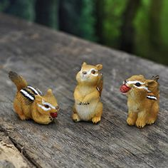 MINI CHIPMUNKS SET 3 ASSORTED - Miniature Expressions
