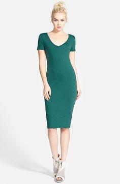 Leith V-Neck Body-Con Dress | Nordstrom
