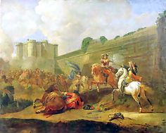 This displays the uprising known as Fronde, where nobles, merchants, peasants and the urban poor had rebelled. The rioters had the audacity of driving the young boy Louis out of his castle.