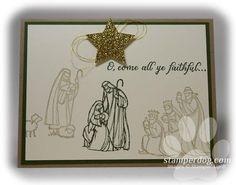 All Ye Faithful Christmas Card...Ann Clemmer * Always Artichoke * Crumb Cake Card Stock: Very Vanilla, Always Artichoke, Crumb Cake