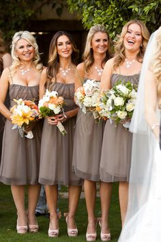 Neutral bridesmaid dresses ~ Andy Rodriguez Photography