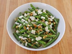 Green Bean Salad with Walnuts, Parmesan and Mint Recipe on Yummly