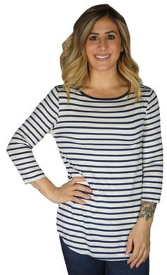 820c25f747 SHOW YOUR STRIPES TOP - 2 COLORS  29  apricotlane  newarrival  musthave   likeit