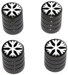 "Amazon.com : (4 Count) Cool and Custom ""Diamond Etching Snowflake Top with Easy Grip Texture"" Tire Wheel Rim Air Valve Stem Dust Cap Seal Made of Genuine Anodized Aluminum Metal {Classic BMW Black and White Colors - Hard Metal Internal Threads for Easy Application - Rust Proof - Fits For Most Cars, Trucks, SUV, RV, ATV, UTV, Motorcycle, Bicycles} : Sports & Outdoors"