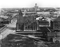Saksalainen kirkko, Helsinki. Panoraama Tähtitieteellisestä observatoriosta Ulriikaporinvuorelta ( Tähtitorninvuorelta) pohjoiseen  Eugen Hoffers. 1867