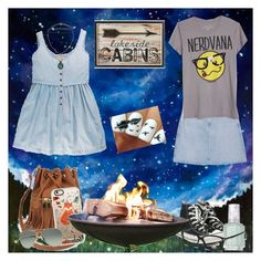 """Weekend Adventure: Camping"" by stargirl234 ❤ liked on Polyvore featuring Giclee Gallery, AG Adriano Goldschmied, Converse, Casetify, Dot & Bo, Topshop, Ray-Ban, Essie, Tom Ford and outfit"