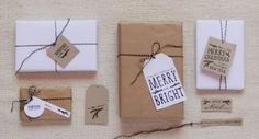 9 of the most beautiful printable holiday gift tags. #DIY #Printable