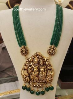 Temple Jewellery latest jewelry designs - Page 11 of 125 - Indian Jewellery Designs Gold Jewellery Design, Bead Jewellery, Pendant Jewelry, Jewelry Necklaces, Beaded Necklace, Gold Necklace, Designer Jewellery, Silver Jewellery, Handmade Jewellery