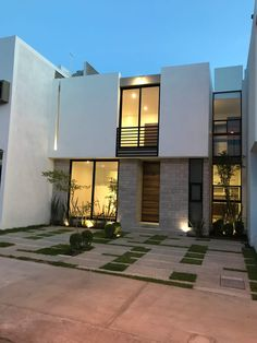 Amazing Architecture, Contemporary Architecture, Architecture Design, Modern Minimalist House, Small Modern Home, House Floor Design, Modern House Design, Frank Lloyd Wright Homes, Box Houses