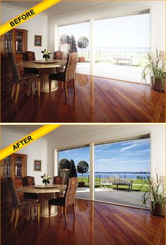 Does your #window #tint #films ruins view of your outside surroundings? Don't worry, Sun Solutions provides you a clear comparison on before and after installing our #residential #windowfilm. We provide all window film solutions in NC. Call 828-687-7882 for assistance.