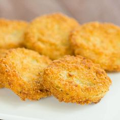 Fried Green Tomatoes. This was my first time ever having fried green tomatoes, but I will go back to this recipe again for sure. So yummy!