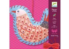 Bastelset Nähkunst 'Papiervögel' von Djeco