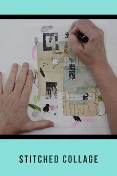 Art journaling tutorials Paper, paint and layered stitched collage art by Roben-Marie Smith. Watch the process video. Paper Collage Art, Collage Art Mixed Media, Collage Artwork, Mixed Media Canvas, Paper Art, Ideas Collage, Collage Video, Collage Techniques, Mixed Media Techniques