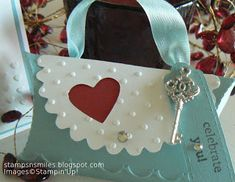 Stampsnsmiles: Soaring with Bling! Pillow Box purse, Heart Collection Framelits Die; Adorning Accents