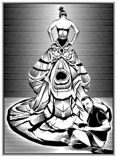 """Ilustração de Yann Legendre do livro """"Couture Confessions"""", que virou o novo objeto de desejo aqui da redação."""