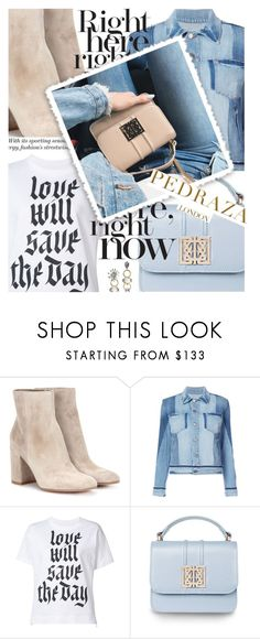 """""""Neutral Tones featuring pedrazalondon.com"""" by cultofsharon ❤ liked on Polyvore featuring Gianvito Rossi, Frame and Sacai"""