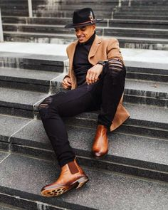 Dapper Gentleman, Dapper Men, Sharp Dressed Man, Well Dressed Men, Black Man, Black Men Street Fashion, Black Men Casual Fashion, Men Fashion, Jogging