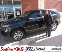 #HappyAnniversary to Michelle Hatcher on your 2013 #Kia #Sorento from Larry Upton at Southwest KIA Rockwall!