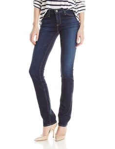 AG Adriano Goldschmied Women's Harper Straight Leg Jean, Smitten, 27. Revival stretch denim. Dark, clean, denim wash with contrast stitching. 98-percent cotton and 2-percent polyurethane.