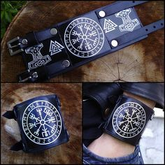 Vegvisir Viking Compass Viking  wristband by VenMehicCustomDesign, $65.00