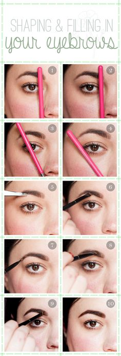 Filling and Shaping Your Brows