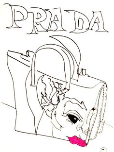 belle BRUT sketchbook: #PRADA #fashion #style #illustration #blindcontour © belle BRUT 2014   http://bellebrut.tumblr.com/post/93750702300/belle-brut-sketchbook-prada-fashion-style