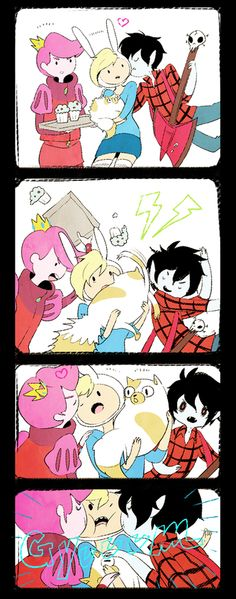 Hahaha Marshall Lee don't let him. Adventure Time Drawings, Adventure Time Comics, Adventure Time Girls, Fin And Jake, Jake The Dogs, Cartoon Movies, A Cartoon, Fallout New Vegas Ncr, Scooby Doo Mystery Inc