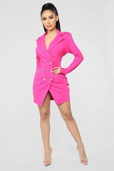 f12012a1ee4f 29 best Hot pink Blazers images | Woman fashion, Casual clothes ...