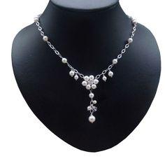 Brautschmuck kette dezent  toller Design Brautschmuck - 925 Perlenkette | BRAUT & SCHMUCK ...