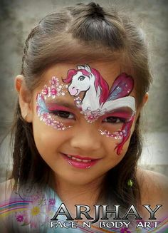 He has the face shape, the eye, and the slightly darker muzzle just right! Horse Face Paint, Face Painting Unicorn, Mask Face Paint, Girl Face Painting, Face Paint Makeup, Unicorn Face, Body Painting, Face Painting Images, Animal Face Paintings